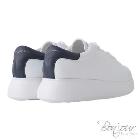 BONJOUR☆+4cm完美比例厚底輕量休閒鞋【ZB0304】藍