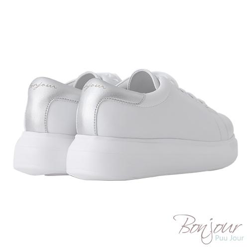 BONJOUR☆+4cm完美比例厚底輕量休閒鞋【ZB0304】銀