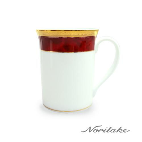 【日本Noritake】皇家系列六色馬克杯-紅邊