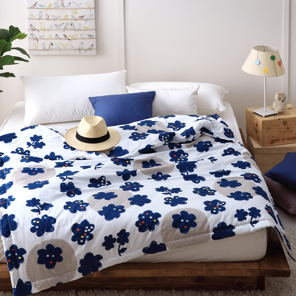 Cozy inn 點子-200織精梳棉-涼被(5X6尺)