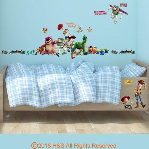 【迪士尼】玩具總動員創意壁貼(35x50cm雙拼)1入