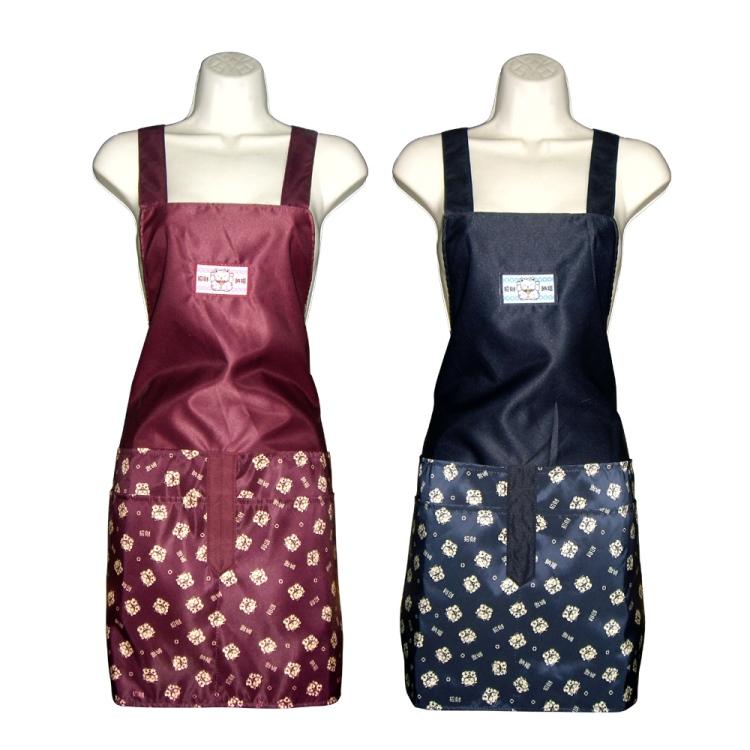 納福貓四口袋圍裙GS542-藍紅二入任組