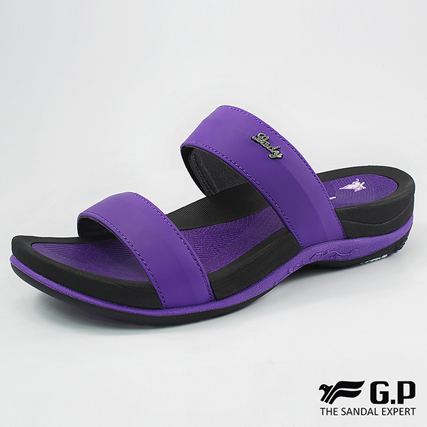 【G.P 時尚簡約舒適雙帶拖鞋】G8538W-紫色(SIZE:36-39 共四色)