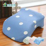 格藍傢飾 水玉涼感舒壓午睡枕 34x24x13 cm