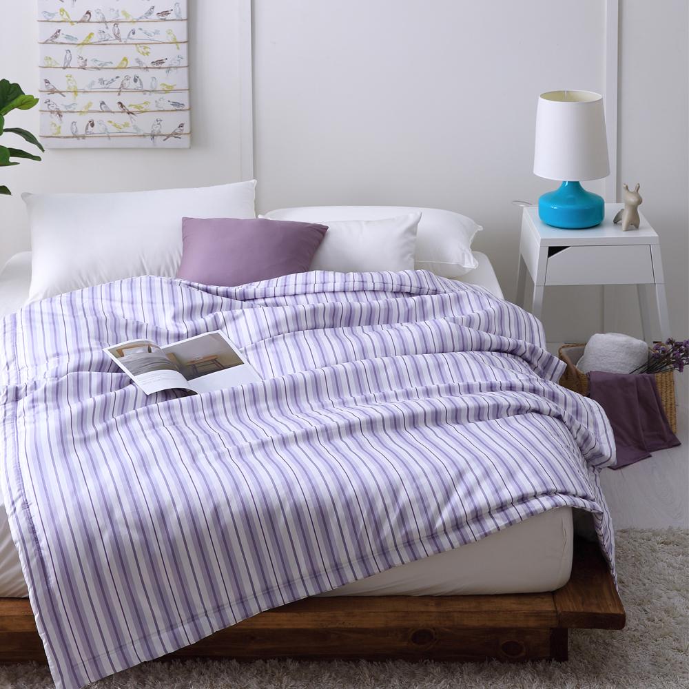 Cozy inn 生活-藍-300織精梳棉-涼被(5X6尺)