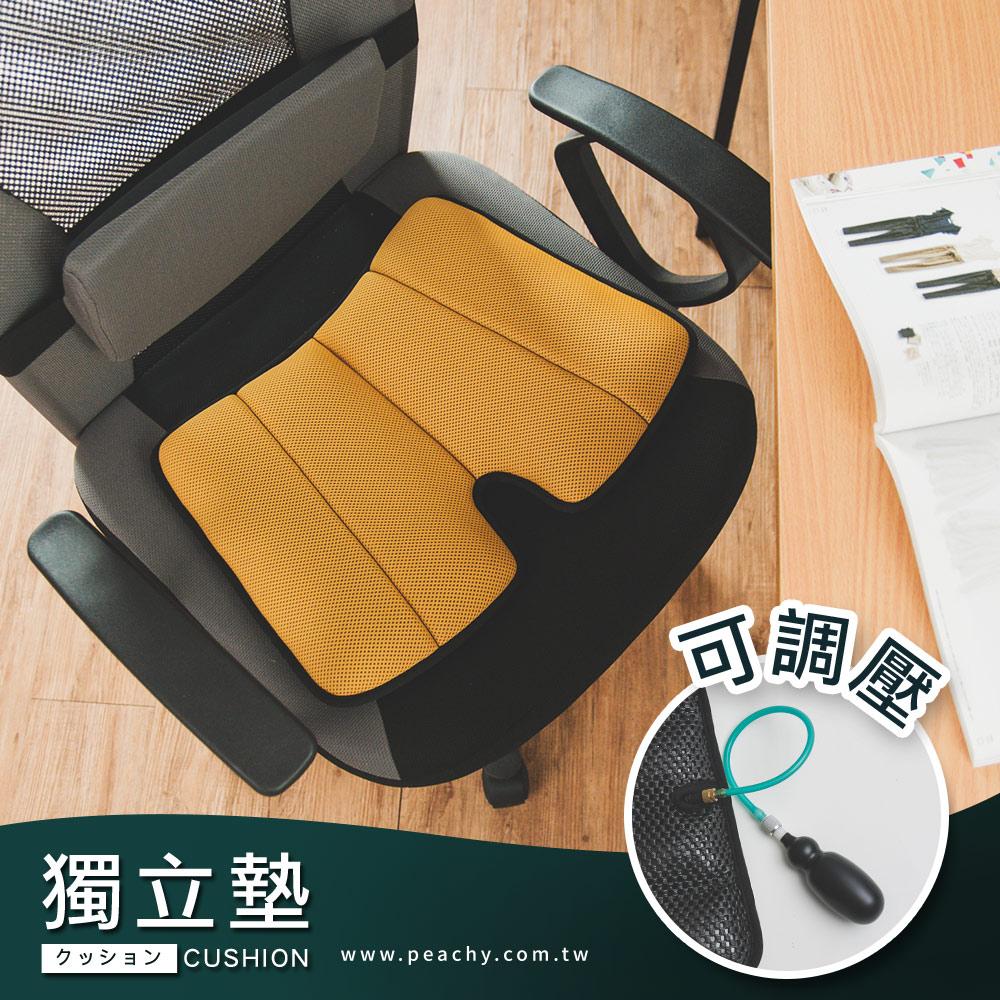 Peachy life 台灣製紓壓透氣可調壓彈力氣墊坐墊/椅墊/座墊-附可調壓幫浦 (八色可選)