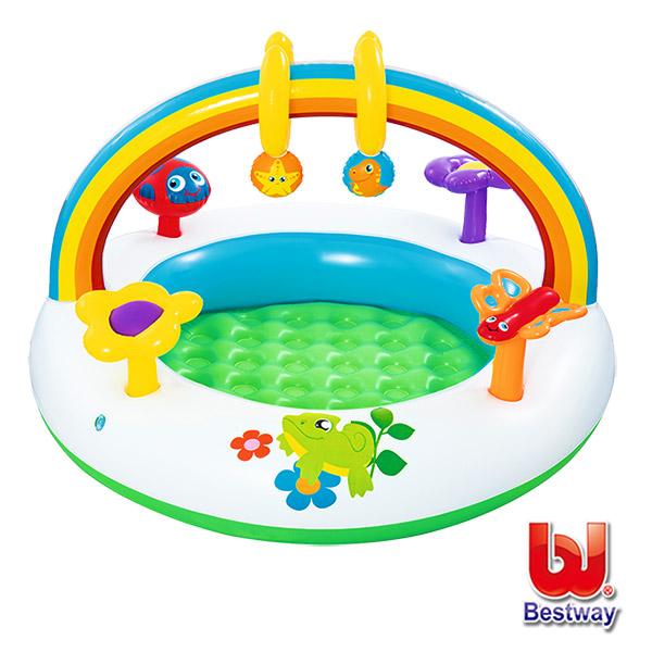 《購犀利》Bestway。彩虹造型兩用充氣戲水/遊戲池