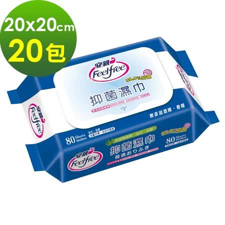 【安親】加蓋 抑菌濕紙巾 (20包)