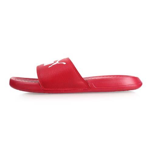 (男女) PUMA POPCAT 運動拖鞋-游泳 戲水 紅白