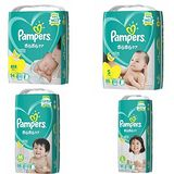 幫寶適Pampers 日本境內Pampers-綠幫彩盒版(黏貼型)2包裝 NB/S/M/L