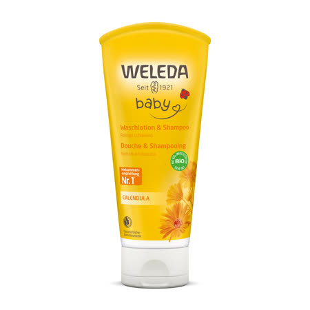WELEDA薇蕾德 金盞花寶貝洗髮/沐浴乳