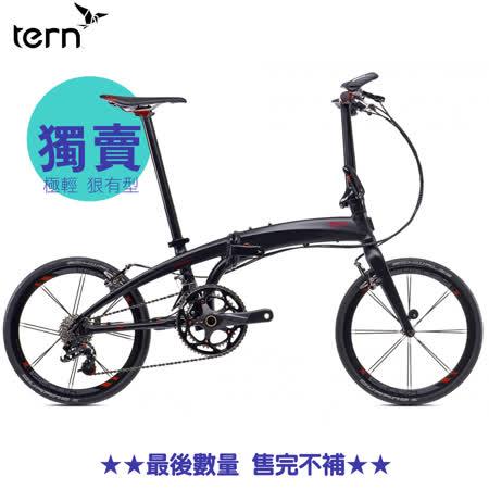 夜殺【Tern】Tern Verge X20 20吋20速鋁合金折疊車-消光黑底紅標