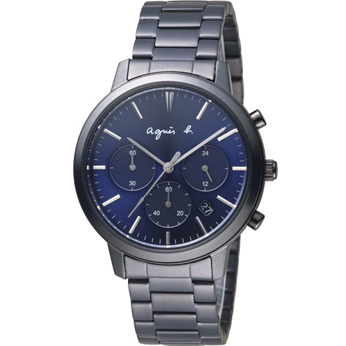 agnes b.香榭生活風尚計時腕錶  VD53-KJC0SD  BT3038X1