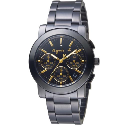 agnes b.都會迷幻時尚計時腕錶 VD53-KP30G BT3033X1