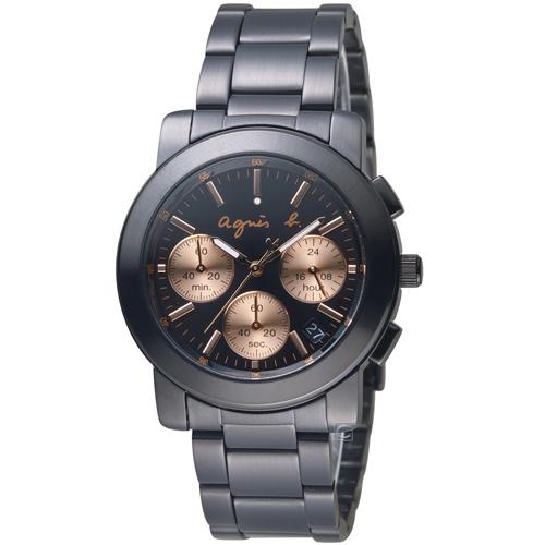 agnes b.都會迷幻時尚計時腕錶 VD53-KP30K  BT3031X1