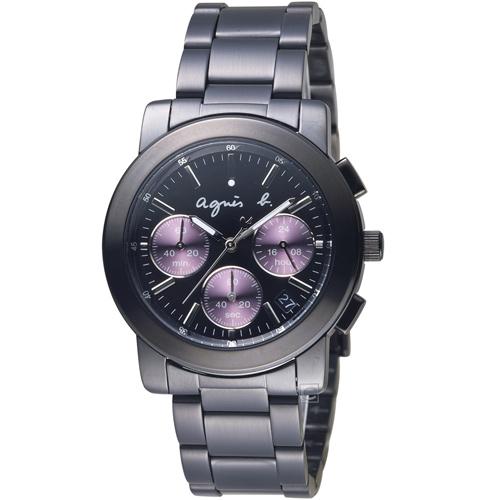 agnes b.都會迷幻時尚計時腕錶 VD53-KP30P  BT3032X1