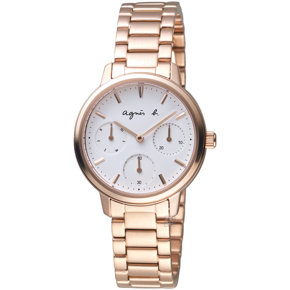 agnes b.法式優雅主張時尚腕錶  VD75-KPZ0P BP6022X1