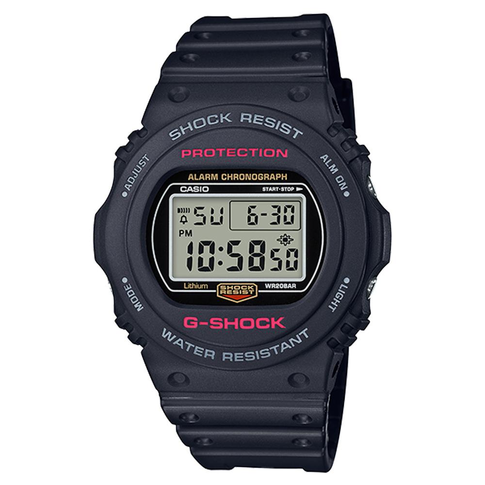 G-SHOCK 電子男錶 防水200米 多功能鬧鈴 DW-5750E-1D