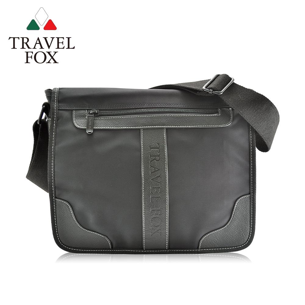 【TRAVEL FOX 旅狐】雲端休閒商務斜背包 (TB578-01) 黑色