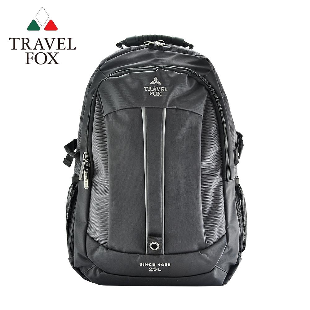 【TRAVEL FOX 旅狐】雙色尼龍輕量休閒後背包 (TB586-13) 灰色