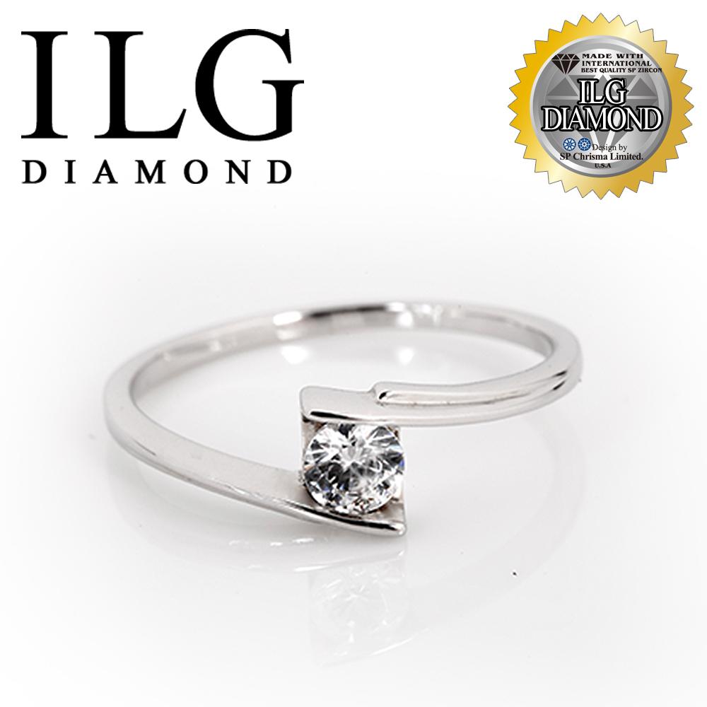 【頂級美國ILG鑽飾】八心八箭戒指 - 主鑽約20分 日出巴黎 RI158 結婚鑽戒 時尚個性設計款(白K金色)