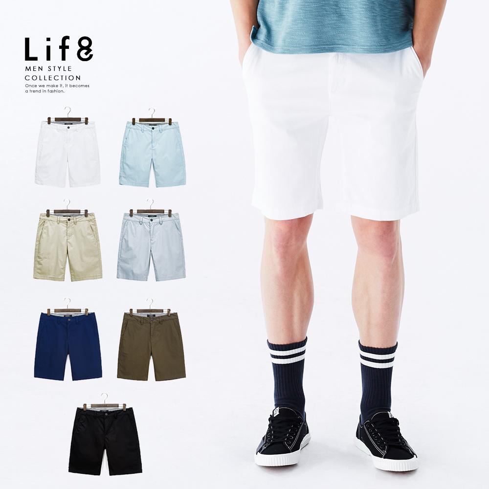 【Life8】Casual 彈力舒適 經典多色短褲-02472