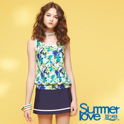 【夏之戀SUMMER LOVE】加大碼長版印花三件式S18720