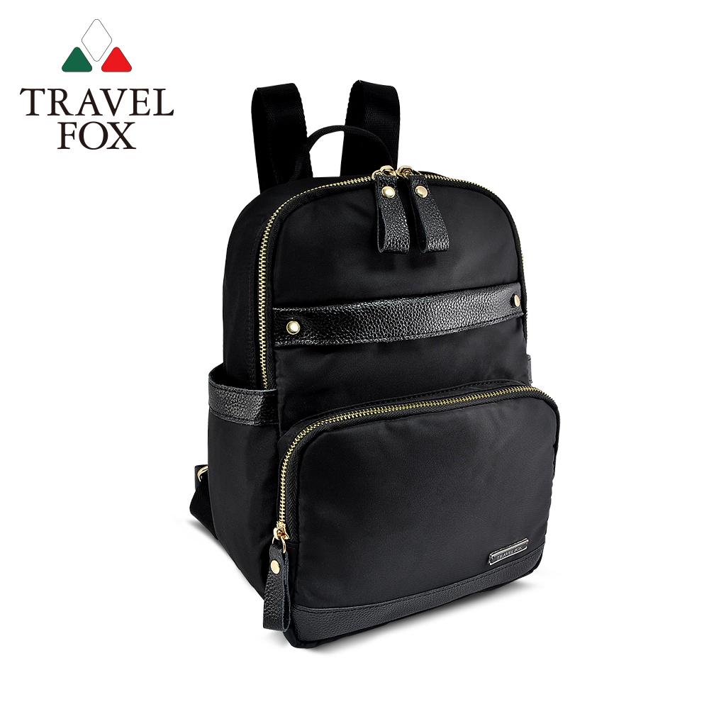 【TRAVEL FOX 旅狐】極簡都會女孩輕量後背包 (TB695-01) 黑色