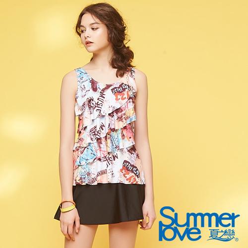 【夏之戀SUMMER LOVE】大女長版二件式泳衣S18725