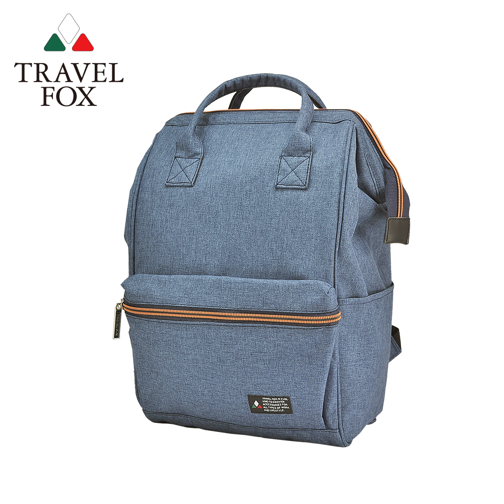 【TRAVEL FOX 旅狐】丹寧風機能大容量後背包 (TB691-77) 藍色
