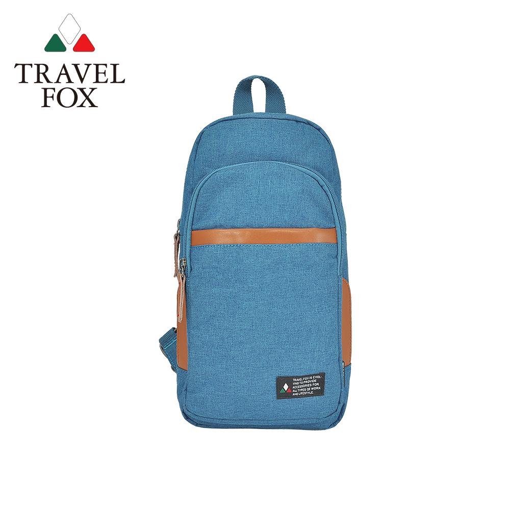 【TRAVEL FOX 旅狐】單肩/雙肩兩用輕巧後背包 (TB689-77) 藍色