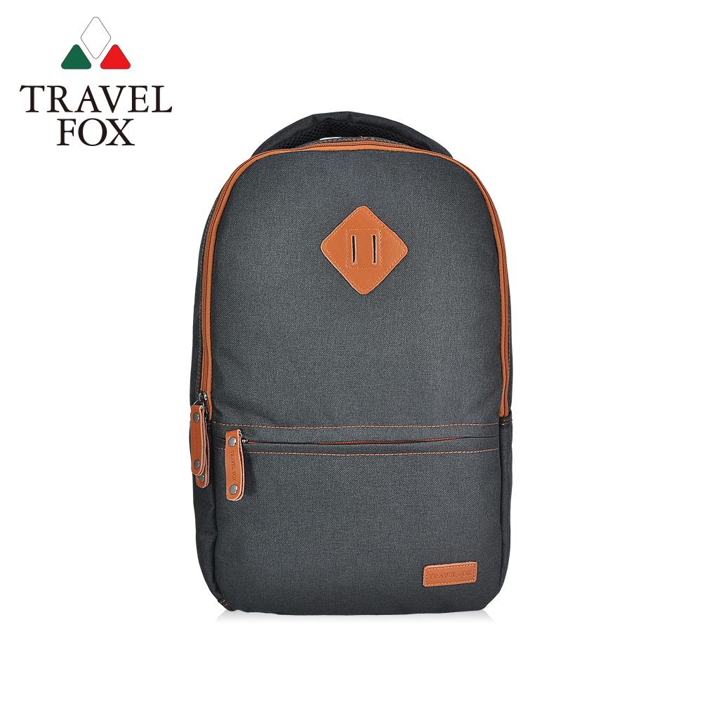 【TRAVEL FOX 旅狐】極簡酷黑豬鼻筆電後背包 (TB680-01)黑色
