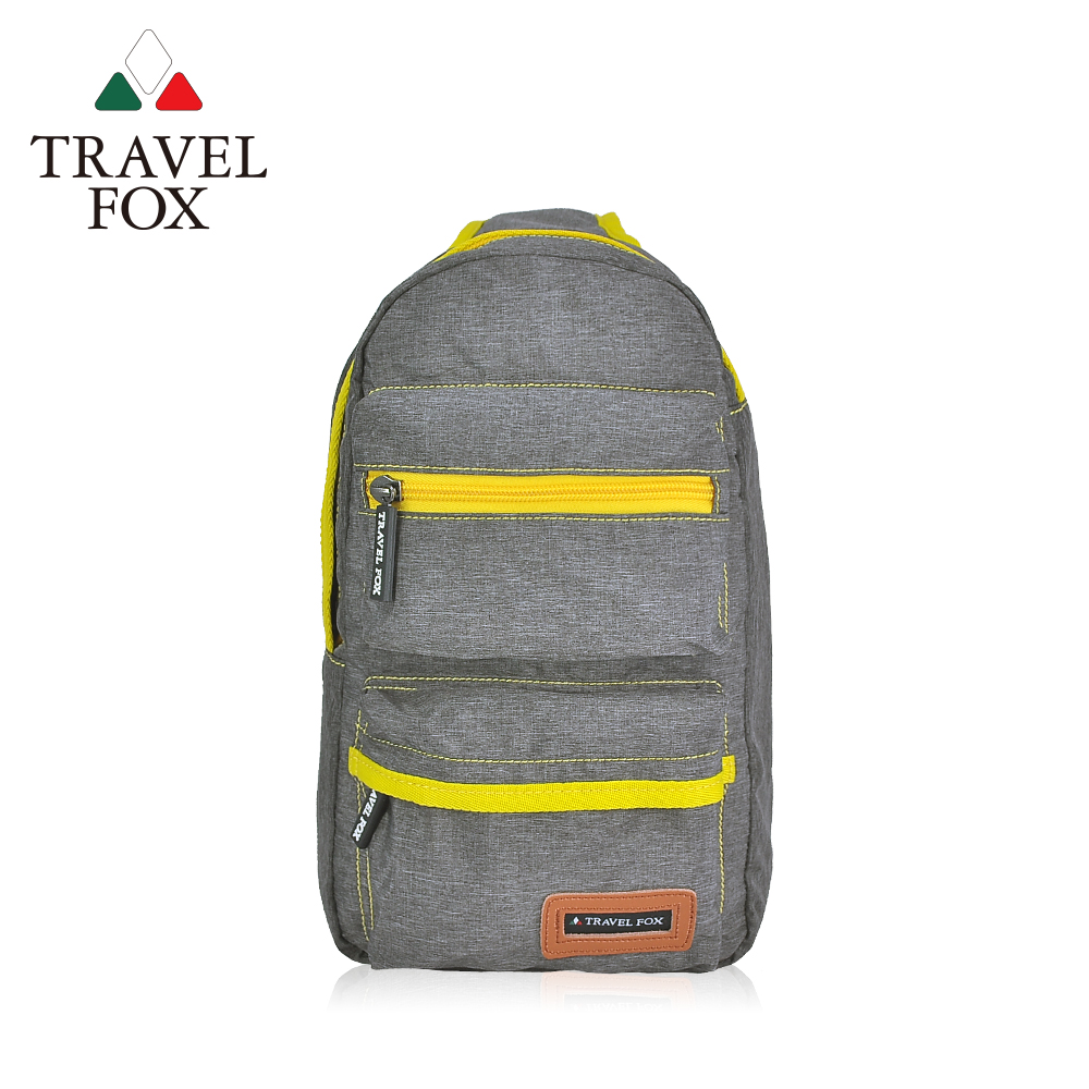 【TRAVEL FOX 旅狐】休閒單肩車縫斜肩包 (TB676-98) 灰色