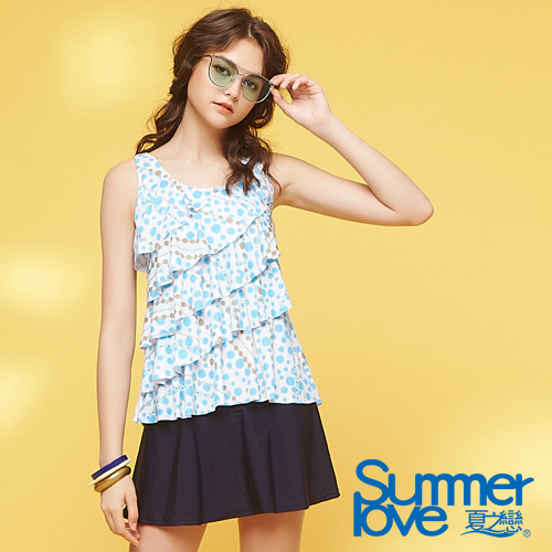 【夏之戀SUMMER LOVE】大女長版二件式泳衣S18730