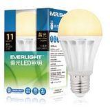 億光 LED燈11W 全電壓/廣角度/黃光燈泡 3入