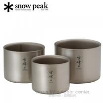 【日本 Snow Peak 】雪峰鈦雙層杯組-M中型三件組(Stacking Mug M Set)隔熱鈦杯子.斷熱杯.戶外登山露營野炊/ TW-136