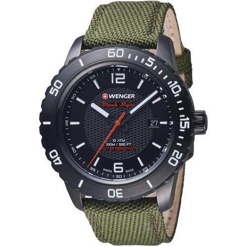 瑞士WENGER  Roadster 黑夜騎士腕錶  01.0851.125