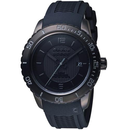 瑞士WENGER Roadster 黑夜騎士時尚錶 01.0851.126