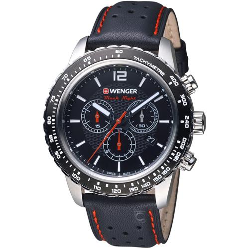 瑞士 WENGER  Roadster黑夜騎士計時腕錶 01.0853.105