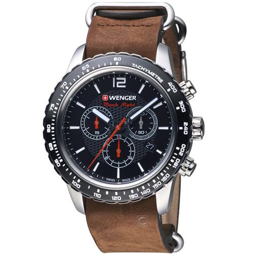 瑞士 WENGER Roadster 黑夜騎士計時腕錶 01.0853.106
