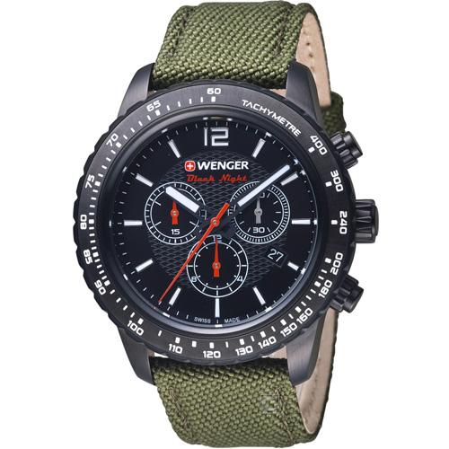 瑞士WENGER Roadster 黑夜騎士計時錶 01.0853.110