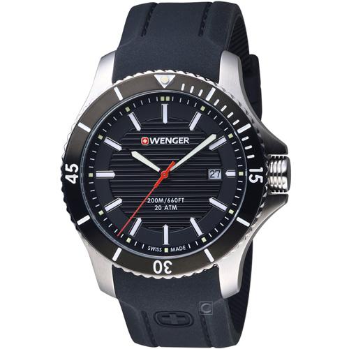 瑞士 WENGER Seaforce海勢系列 征服怒海潛水腕錶 01.0641.117