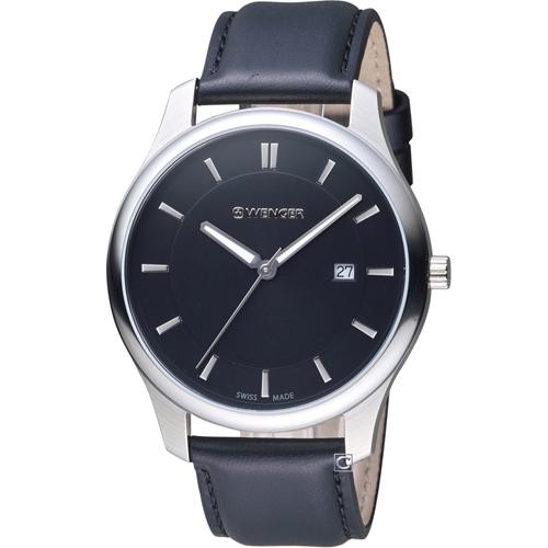 瑞士 WENGER City 城市系列 經典簡約紳士腕錶 01.1441.101