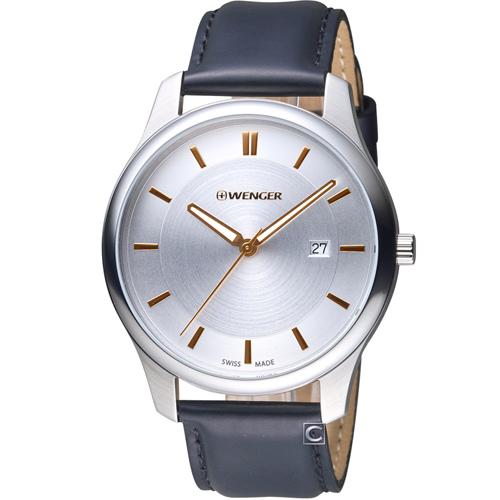 瑞士 WENGER City 城市系列 經典簡約紳士腕錶 01.1441.103