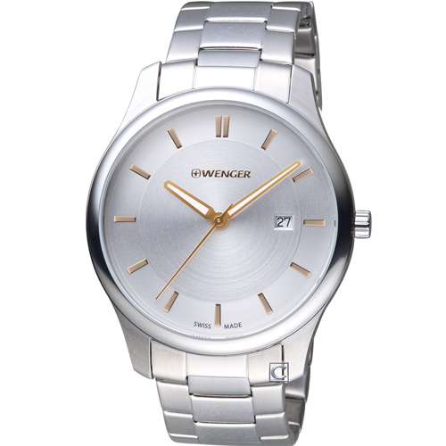 瑞士 WENGER City 城市系列 經典簡約紳士腕錶01.1441.105