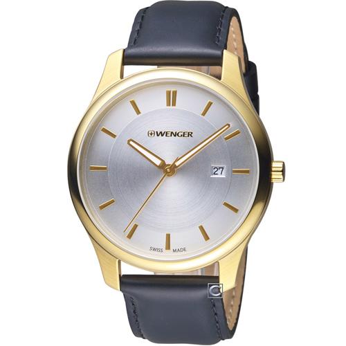 瑞士 WENGER City 城市系列 經典簡約紳士腕錶  01.1441.106