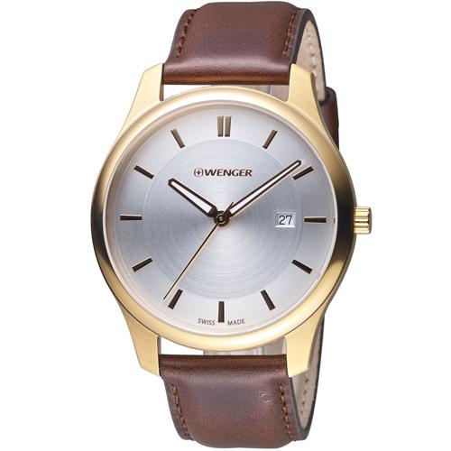 瑞士 WENGER City 城市系列 經典簡約紳士腕錶 01.1441.107