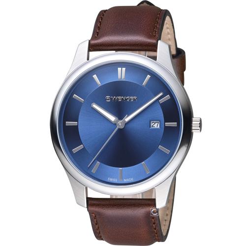 瑞士 WENGER City 城市系列 經典簡約紳士腕錶 01.1441.116