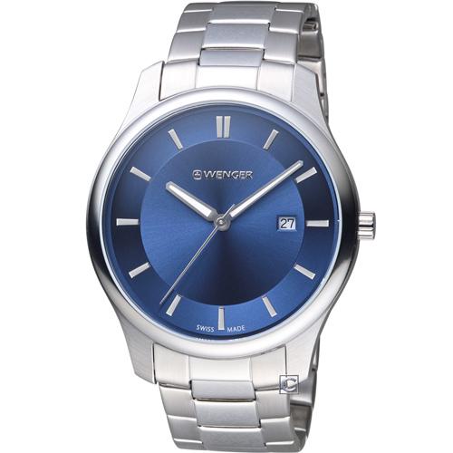 瑞士 WENGER City 城市系列 經典簡約紳士腕錶 01.1441.117