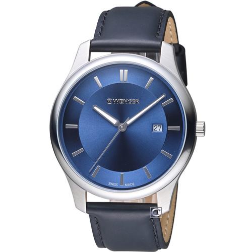 瑞士 WENGER City 城市系列 經典簡約紳士腕錶  01.1441.118